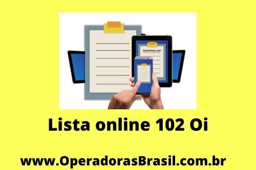 telelista online da Oi com br102