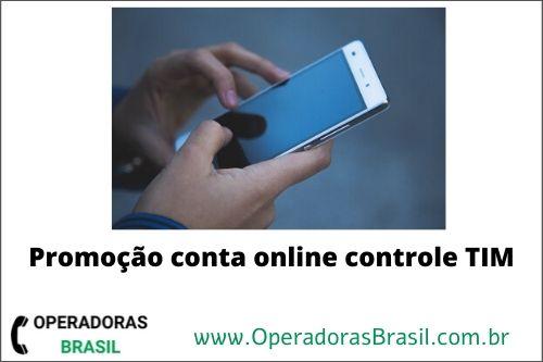 Promoção conta online controle tim