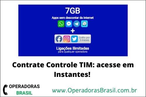 contrate controle TIM com redes sociais grátis